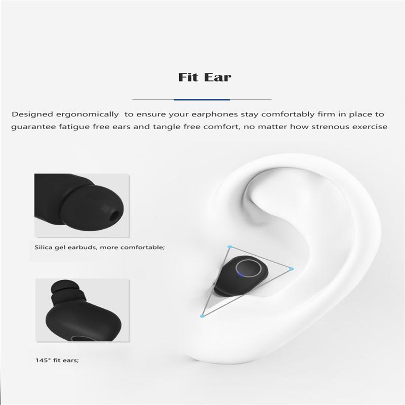TWS لاسلكي صغير Bluetooth5.0 السماعات المحمولة صيحات الموضة جودة الصوت ستيريو التوائم في الأذن سماعات الأذن للألعاب الرياضية لتعليم قيادة السيارات