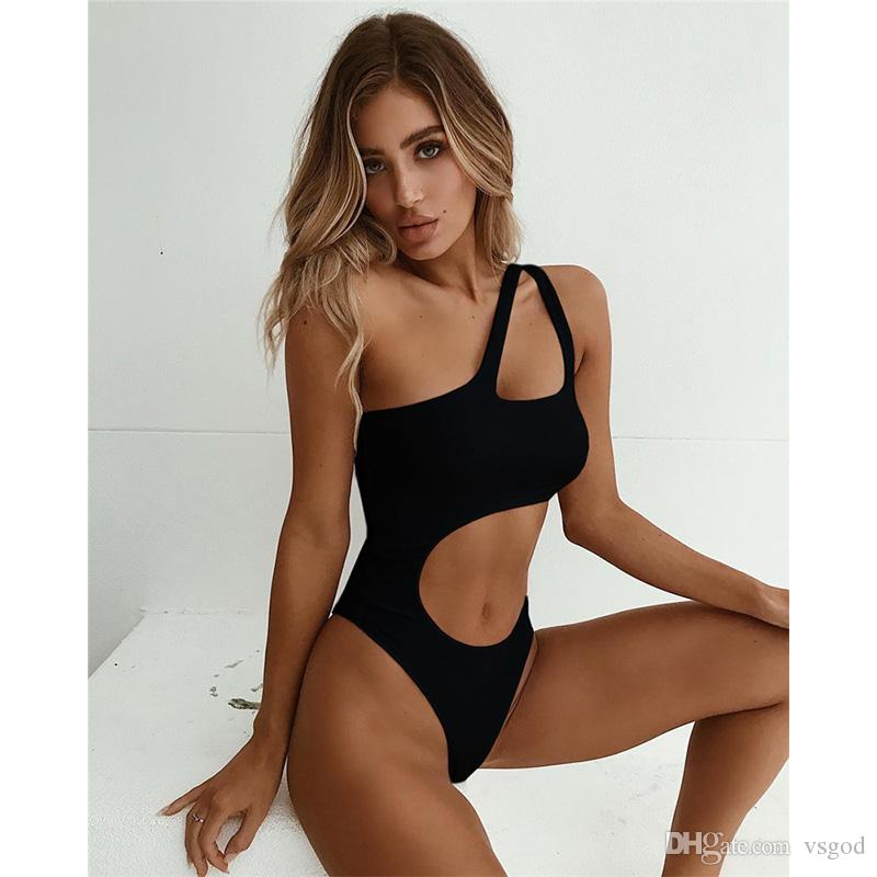 c3fa24e9d04 2019 Ins Best Selling Sexy Tide Pure Color Bikini Breathable Piece Swimsuit  Womens Tide Beach Equipment Hot Spring Swimsuit Mothers Day Present From  Vsgod, ...