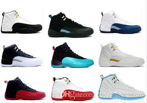7f8f370a0bb2 Cheap Top Quality 12 12s Mens Basketball Shoes White TAXI Flu Game French Blue  Gamma Blue Playoff Sneakers Master Gym Red Trainers 5 6 13 11 Basketball  Gear ...