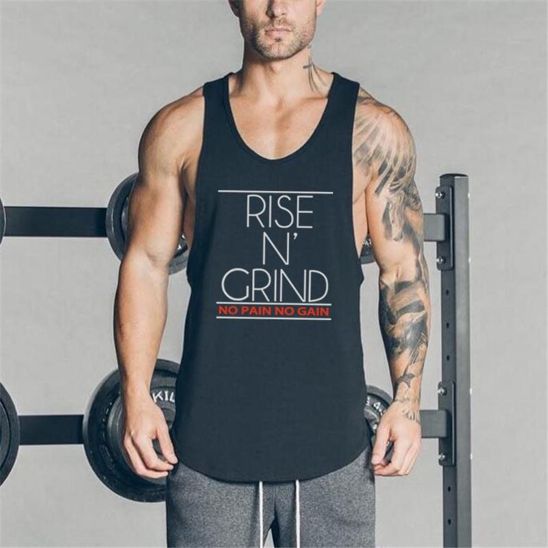 50bea650 Brand Fitness Clothing Mens Tank Top Bodybuilding Stringer Gyms Vest Men  Sleeveless Shirts O Neck Tops Muscle Shirt Party T Shirts Collared T Shirts  From ...