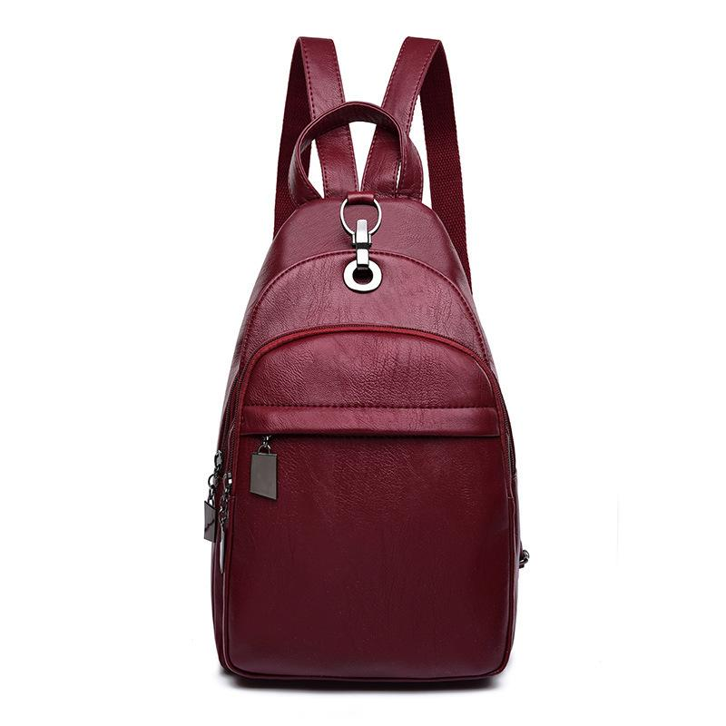 purchase authentic fast color later High Quality Pu Leather Backpack Female Bag Girls Convertible Small  Backpack Purse Cross Body Sling Shoulder Bag