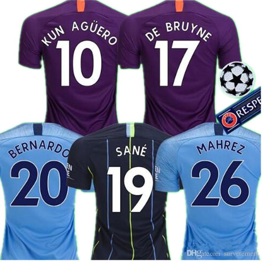 559e07432 Compre FODEN MAHREZ 18 19 Camisas De Futebol Da Cidade Manchesterss ...