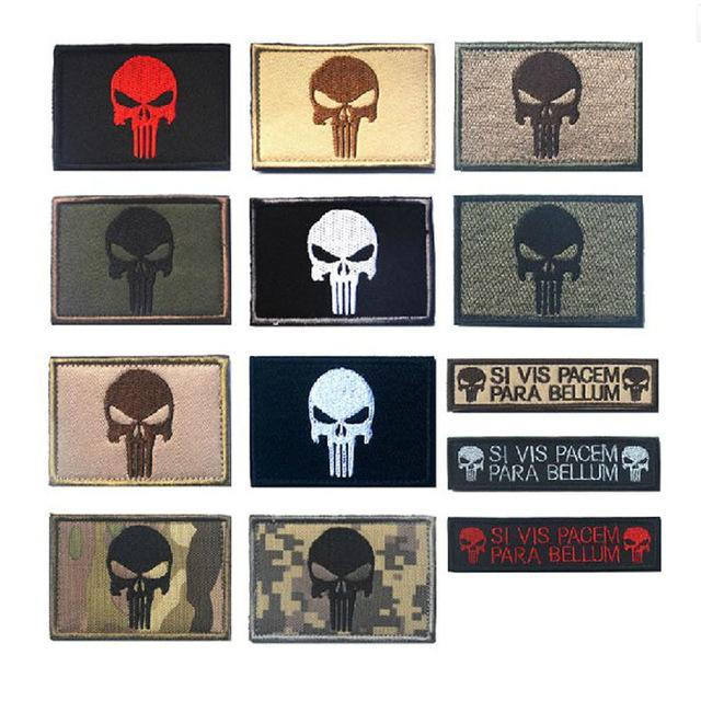 Punisher Patch the Tactical Parches militares Insignias PUNISHER SKULL SWAT SPECIAL OPS EE. UU. PARRILLOS DE MORAL PARA la chaqueta Mochila