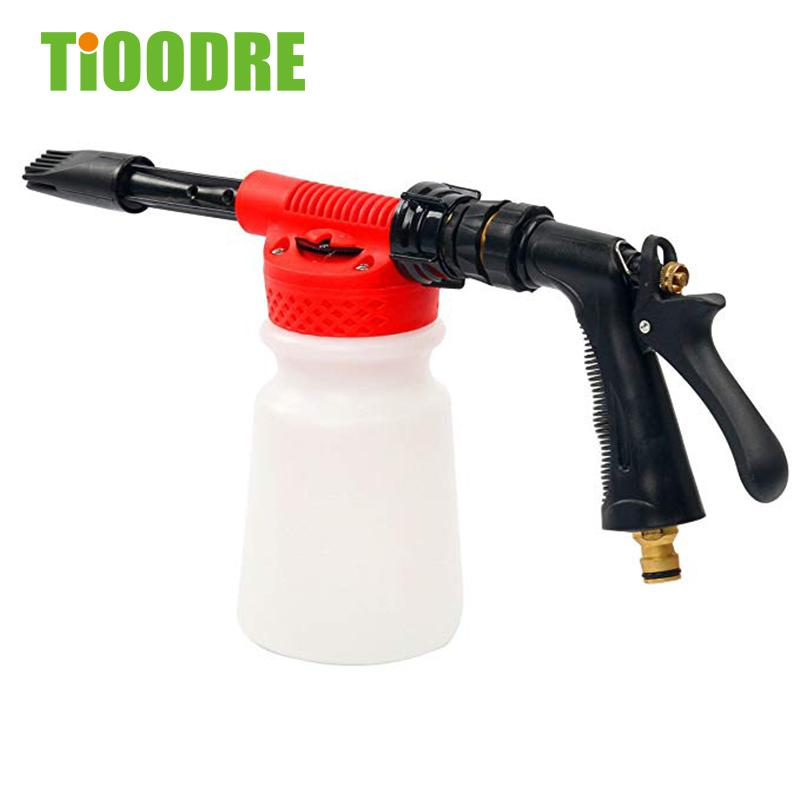 TiOODRE Car Wash 2 In 1 Function High Pressure Snow Bubble Gun 900ml Car Foam Cleaning Gun Sprayer