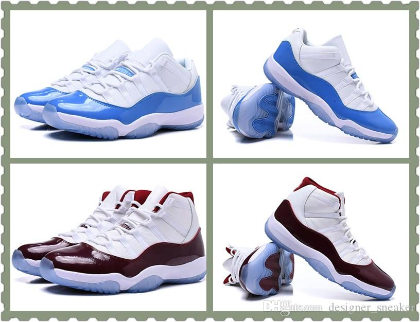 0f34a81c62e9 2019 Low Concord 11 Columbia White University Blue Men Women Basketball  Shoes 23 Hot Sale 11s High Burgundy Mens Ladies Trainer Sport Sneakers From  ...