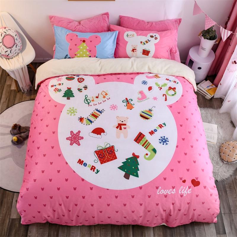 New Cotton Christmas Bedding Set Pillowcase Comfortable And Cute