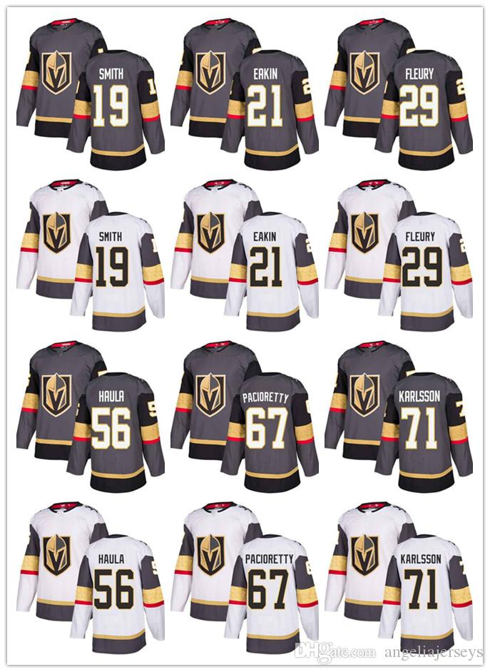 innovative design 4ea7d 76714 Free Shipping Vegas Golden Knights Men Marc-Andre Fleury Grey Home Ice  Hockey Jersey White Road Max Pacioretty Stitched NHL Jersey