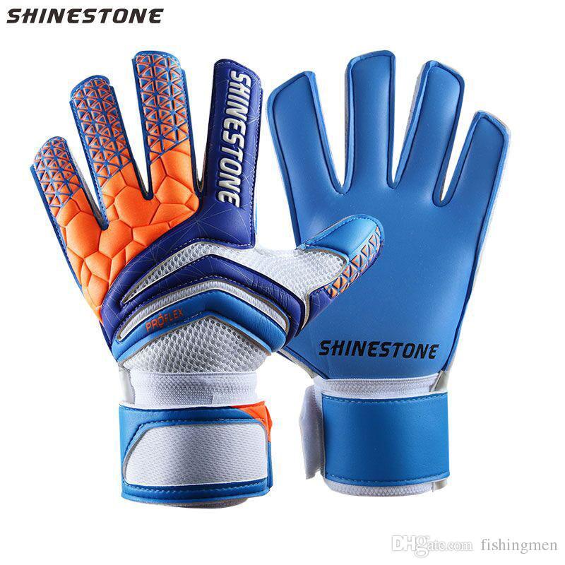 Shinestone Kinder Erwachsene Grosse Fussball Torwarthandschuhe Professionelle Dicke Latex Fussball Torwarthandschuhe Mit Fingerschutz