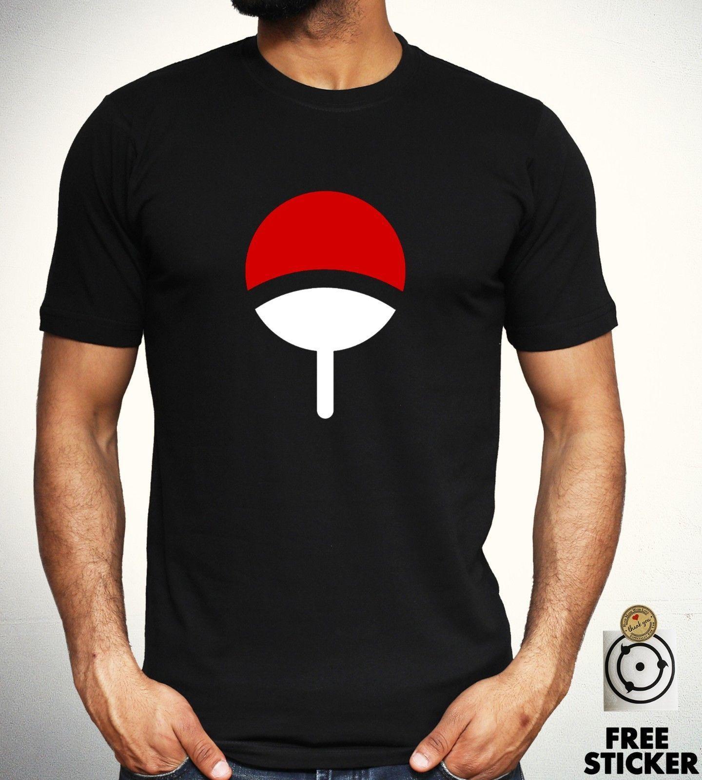 Compre Símbolo Da Camisa Do T Do Clã Uchiha Sharingan Sasuke Itachi Madara  Dos Homens Dos Miúdos Tee De Printforless51 8e63ede8681e1