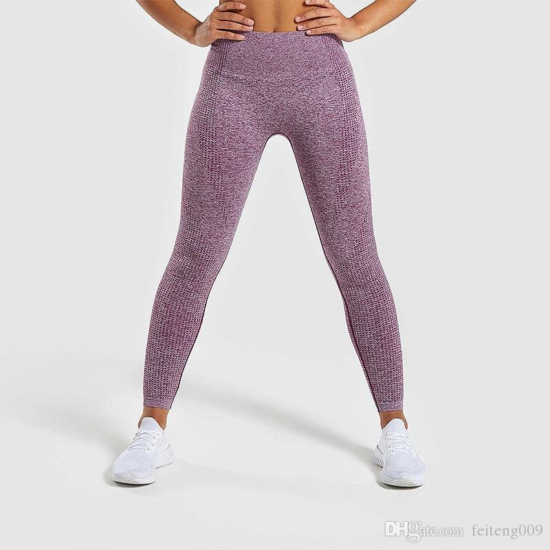 918978ba53ee1 2019 Women Gym Pants Sport Running Exercise Tights Workout High Waist Push  Up Yoga Pants Anti Cellulite Vital Seamless Leggings #808709 From  Feiteng009, ...