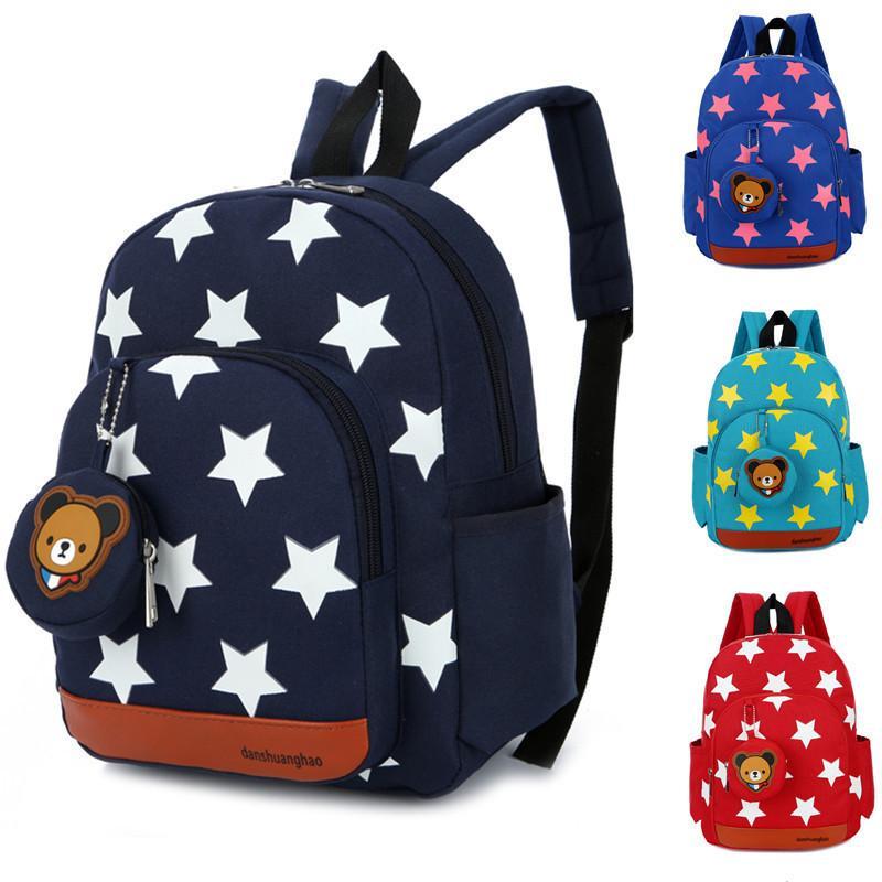 16991073a5 Baby S Cute Stars School Bags Red Mochila Kids Bags Children Backpacks With  Bear Pendant For Kindergarten Girls Bolsa Escolar Rucksack Backpack Boys ...