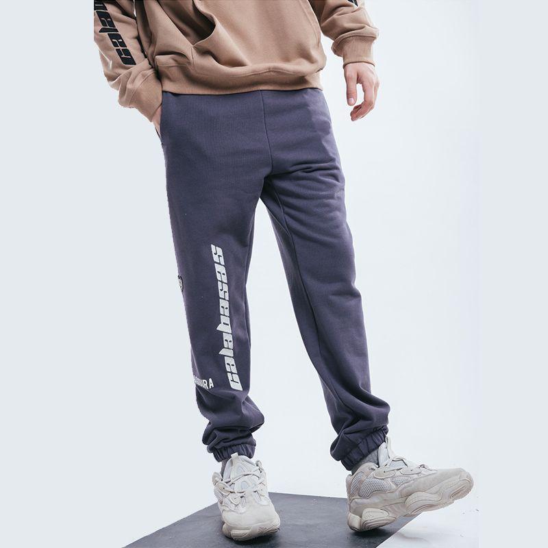 37258cc4 Kanye West Calabasas Joggers Sweatpants Men's Elastic Waist Cotton Sport  Pants Fashion Long Casual Trousers Hip Hop Streetwear TXH1106