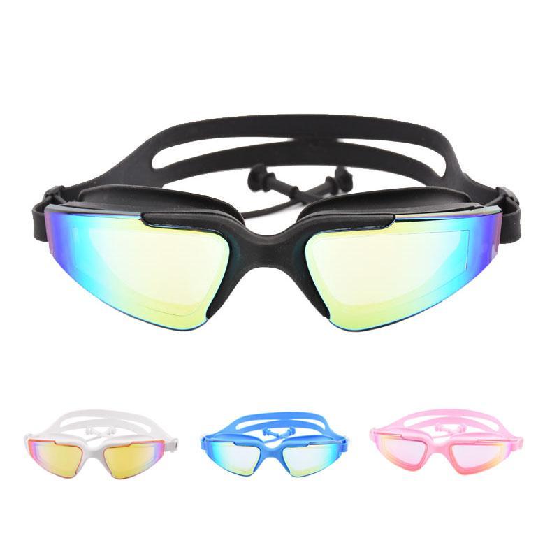9c24c07c48ea Nuevas gafas de natación para adultos, tapones para los oídos,  impermeables, antiniebla, UV, hombres, piscinas, piscina, agua, natación,  gafas, gafas ...