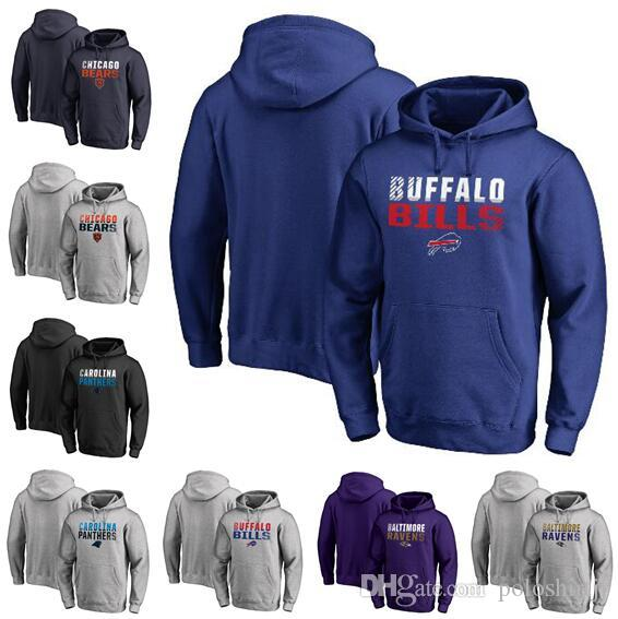 Chicago Carolina Buffalo Baltimore Hommes Ravens Bills Panthers Bears Pro Line de Fanatics Branded Iconic Collection Pull à capuche