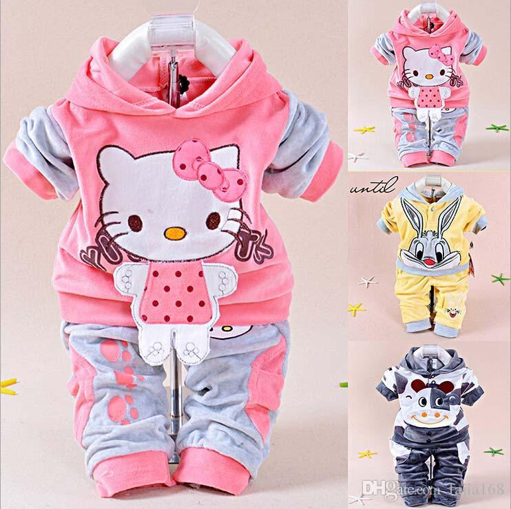 hot sale new fashion spring autumn baby boys girls suit kids brand character tracksuits boys hoodies+pants 2 sets freeshipping