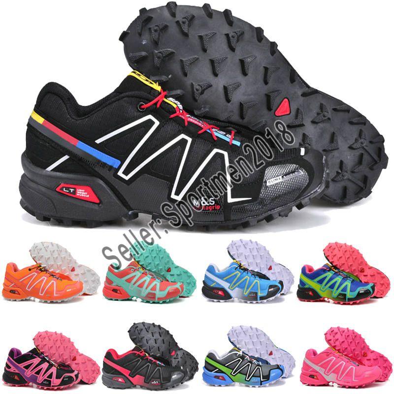 images détaillées dc7bf 4946f Salomon Speedcross 3 CS Trail Chaussures De Course Femmes Noir Rose Speed  Cross III Léger Imperméable Sports De Plein Air Baskets 36-41