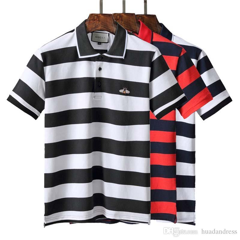 7f3e4fa7 2019 European Casual POLO Shirt Summer England Classic Short Sleeve ...