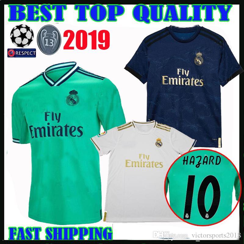 d4ab69534e 2019 19 20 Real Madrid HAZARD Soccer Jerseys Home Away Third 2019 2020  Camisetas De Futbol BENZEMA MODRIC KROOS ASENSIO Football Shirts Maillot  From ...