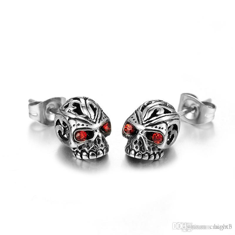 6515ef86f 2019 2018 Hot Sell Punk Skull Earrings For Men Boys Cool Silver Jewelry Hip  Hop Stud Earrings Vintage Rock Skeleton Earrings From Hight3, $3.91 |  DHgate.Com
