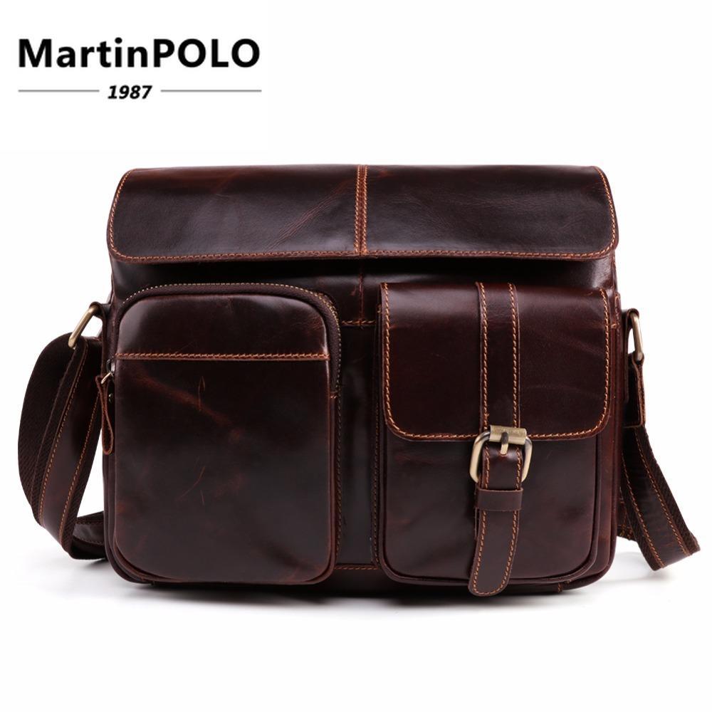 737c175a68 Brand Messenger Bag Men Genuine Leather Men S Shoulder Bag High Quality  Male Handbags Office Business Crossbody For Men 6406 Small Purses Designer  Crossbody ...