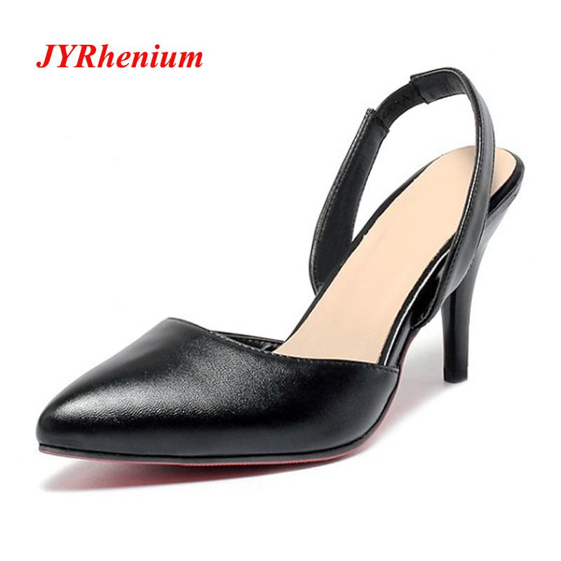 e4c296d1407 Shoes JYRhenium New Pointed Toe Classic Office Ladies Working Pumps Autumn  Fashion Thin Heel High Heels Women Elegant Mujer Purple Shoes Cute Shoes  From ...
