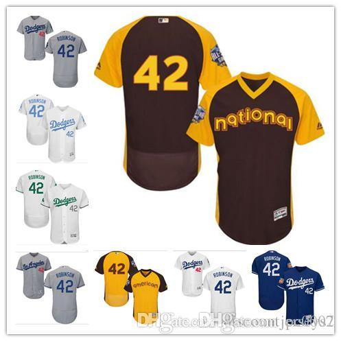 new style ce4ac 0f67b 2019 Dodgers Jerseys #42 Jackie Robinson Jerseys men#WOMEN#YOUTH#Men s  Baseball Jersey Majestic Stitched Professional sportswear