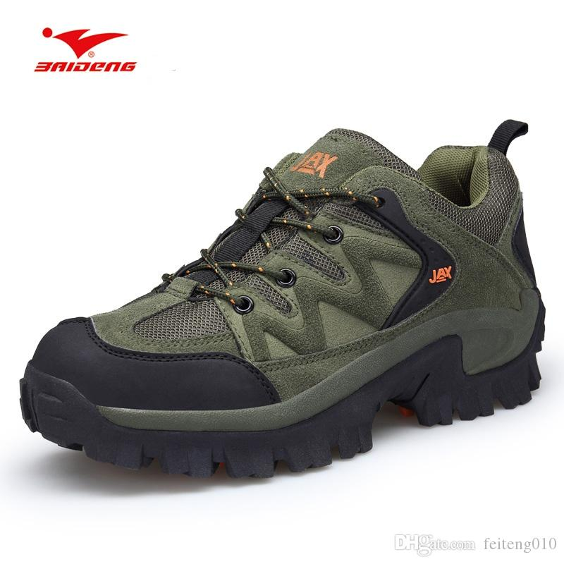 db89eac16b9 Baideng New 2018 Anti-skid Hiking Shoes Wear Resistant Mountain Climbing  Camping Shoes Breathable Outdoor Trkking Climbing #4480