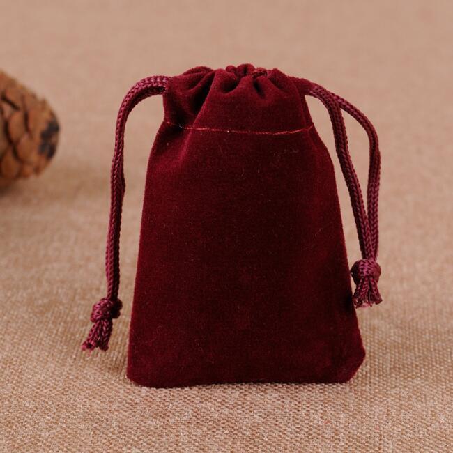 / 5x7, 7x9, 8x10, 10x12cm Negro / Azul / Rojo / Rojo de vino Bolsas de terciopelo Bolsas Bolsas de joyería Bolsas de embalaje de regalo