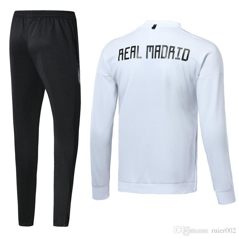 b580216c594 2019 Real Madrid Soccer Jacket 2018 2019 Chandal Full Zipper Tracksuit 18 19  De Foot ISCO Real Madrid Jacket Pants Chandal Training Suit Kit From  Ruier002