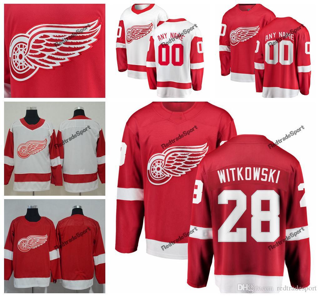 2019 Detroit Red Wings Luke Witkowski Hockey Jerseys Mens Custom Name Home  Red  28 Luke Witkowski Stitched Hockey Shirts S XXXL UK 2019 From  Redtradesport 512fdf25f