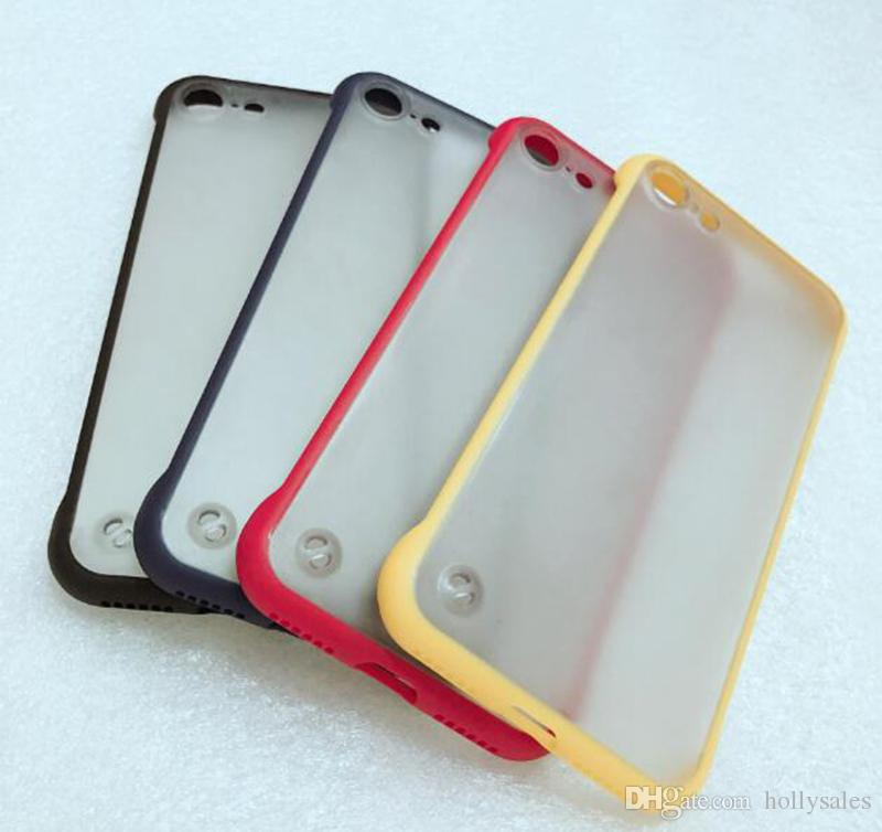 Ultra mince étui sans cadre pour iphone 11 pro max max pour iphone 6 7 8 plus x huawei compagnon 20 p30 pro étui transparent mat transparent
