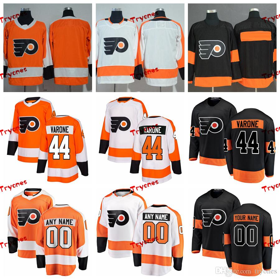e1cae9f3cb6 2019 2019 Phil Varone Philadelphia Flyers Stitched Jerseys Customize Home  New Alternate Black Shirts #44 Phil Varone Hockey Jerseys S XXXL From  Tryones, ...