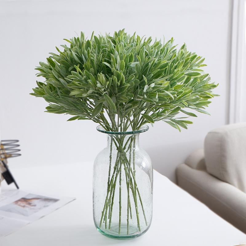 Artificial Olive Leaves Branch Simulation Green Pepper Leaf Grass Plant Home Wedding Decor Fake Flower
