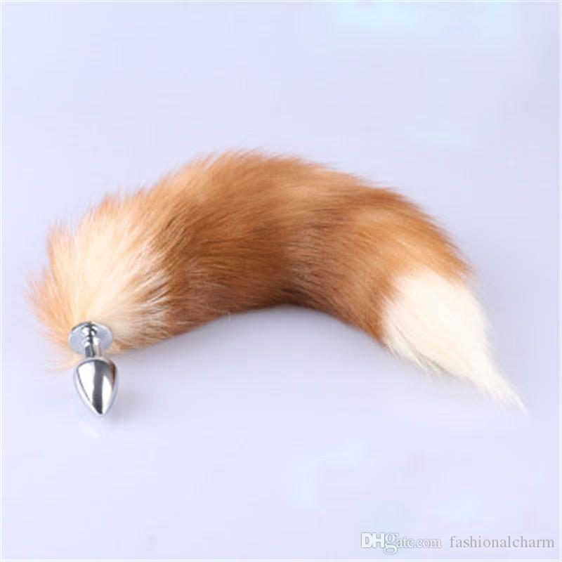 a1d4806f4 Genuine Real Fox Fur Tail Metal Stainless Butt Toy Plug Insert Anal Sexy  Stopper Make Your Own Keychain Kingdom Hearts Keychain From Fashionalcharm