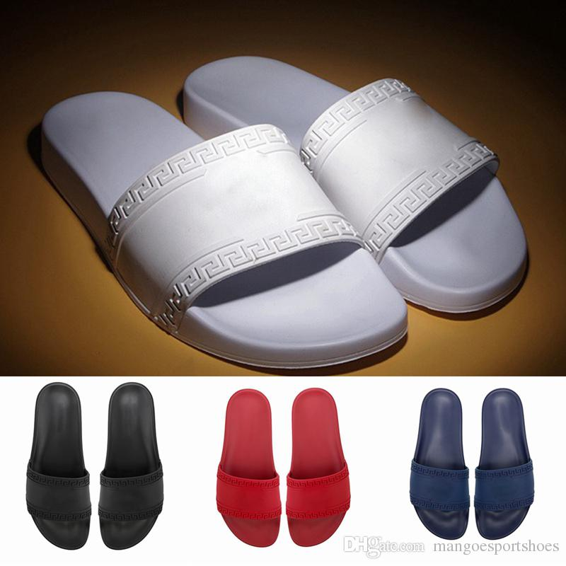 6335fbc71 2019 NEW Designer Slipper Gear Bottoms Mens Women Striped Sandals Causal  Non Slip Summer Huaraches Slippers Flip Flops Slipper Fringe Boots Girls  Shoes From ...