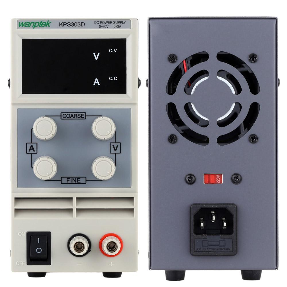Mini DC Power Supply Professional Switching DC Power Supply Variable Adjustable AC 110V/220V 50/60Hz Digits LED 0-30V 10A