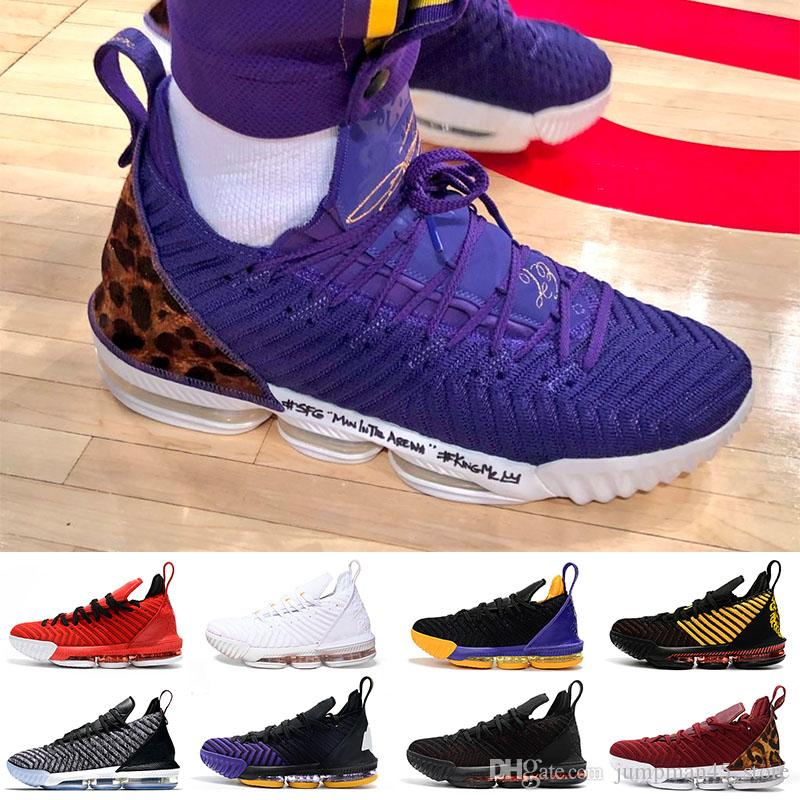8619b115eee 2019 King Court Purple LBJ XVI 16 16s Basketball Shoes 1 Thru 5 Lakers King  Red Oreo Fresh Bred I Promise Designer Trainers Sneakers From  Jumpman45 store