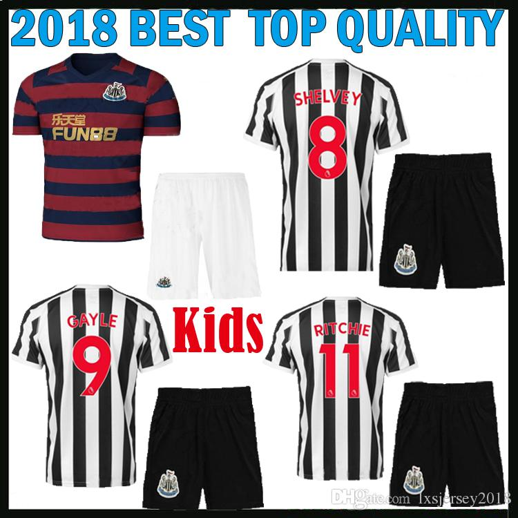 2019 Best Quality 2018 2019 Newcastle United Kids Kit Soccer Jersey Home  Away GAYLE AYOZE 18 19 Newcastle United Children Third Football Shirts From  ... 958128279264b