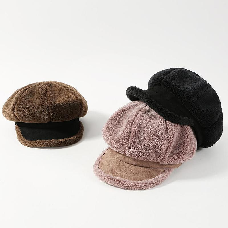 1250cece9b1b 2018 Newspaper Children's Hat Women's Autumn And Winter Octagonal ...