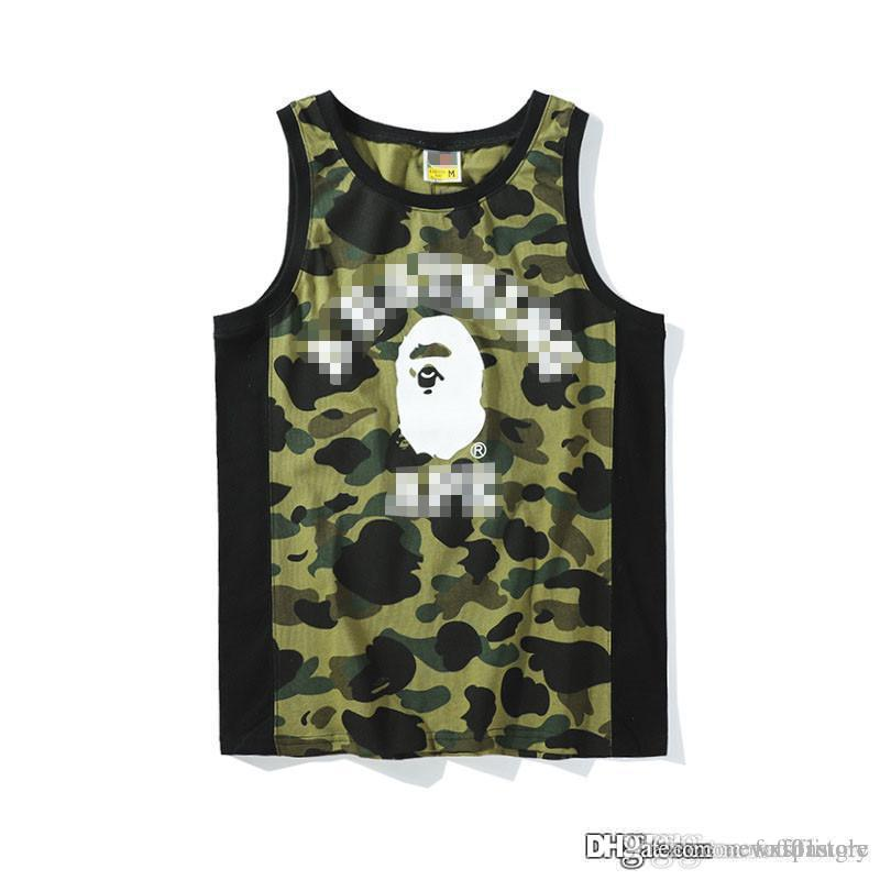 a3e1036b84a7d 2019 2018 Men Sports 18BAPE A New BATHING 18 APE Sleeveless City Camo Tank  Top In Black NWT T Shirt Top Breathable Casual Vest From Fafafastore