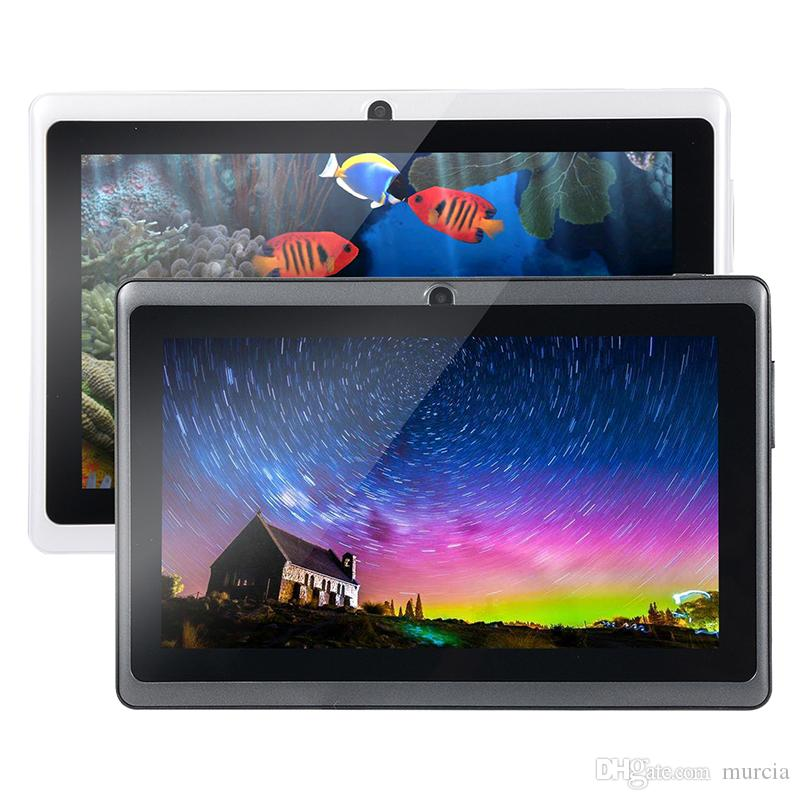 Q8 7 inch tablet PC A33 Quad Core Allwinner Android 4.4 KitKat Capacitive 1.5GHz 512MB RAM 4GB ROM WIFI Dual Camera Flashlight OTG GPS WIFI