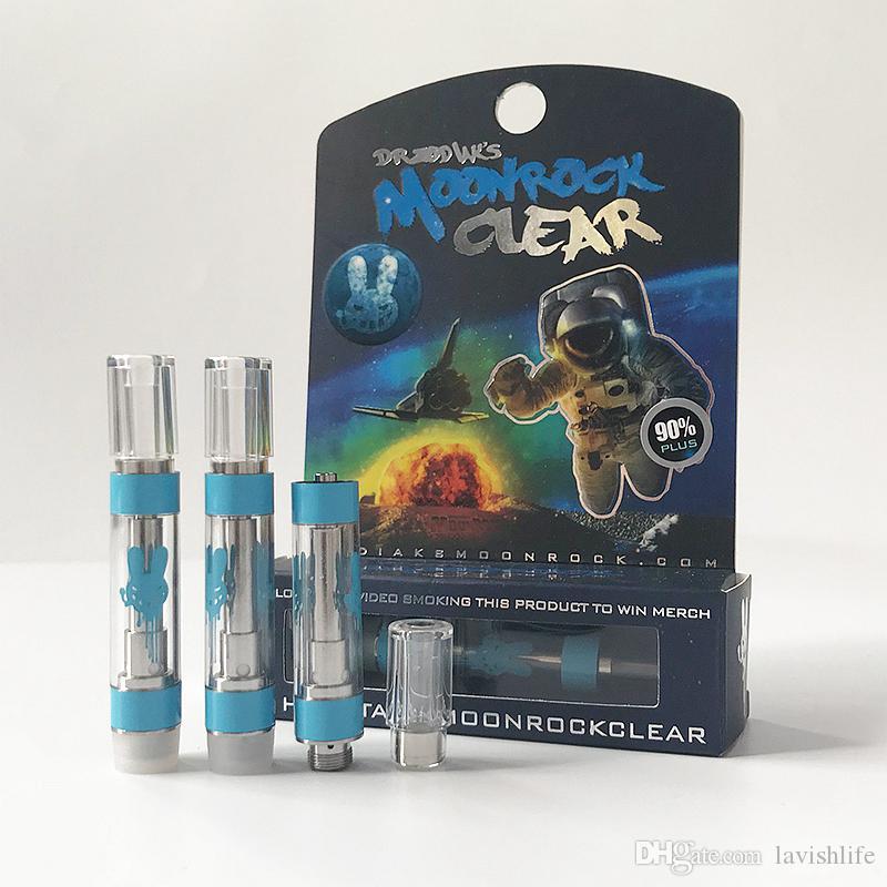 New MoonRock Clear Cartridge 1 Gram Ceramic Coil Glass Thick Oil Vape  Cartridges For 510 Thread Battery E Cigarettes Dab Pen Vaporizer