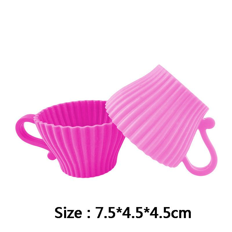 New Soft Redonda Silicone Bolo Mold Com Handle Muffin Silicone Casos Chocolate Mold Cupcake Liner Baking Cup Mold Egg Tart Cup DBC BH2688