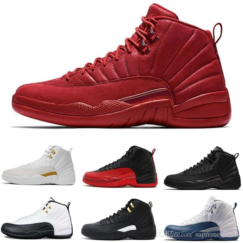 67abf3cb8f2d8 2019 12s Basketball Shoes 12 OVO Winterized WNTR Gym Red Michigan Bordeaux  The Master Flu Game Taxi Women Sports Shoes Sneaker Trainers Size 7 13 From  ...