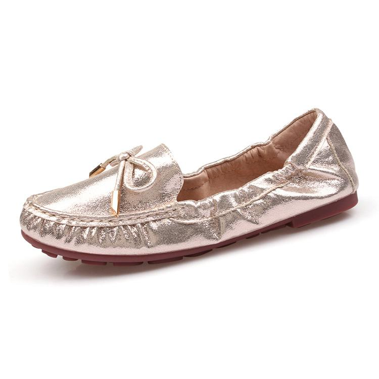 aae36dcfe78f Bow Tie Loafers Silver Gold Ballet Flats 2018 Casual Slip On Shoes Woman  Shallow Soft Summer Women Flat Shoes Sliver Mens Boots Moccasins From Yera