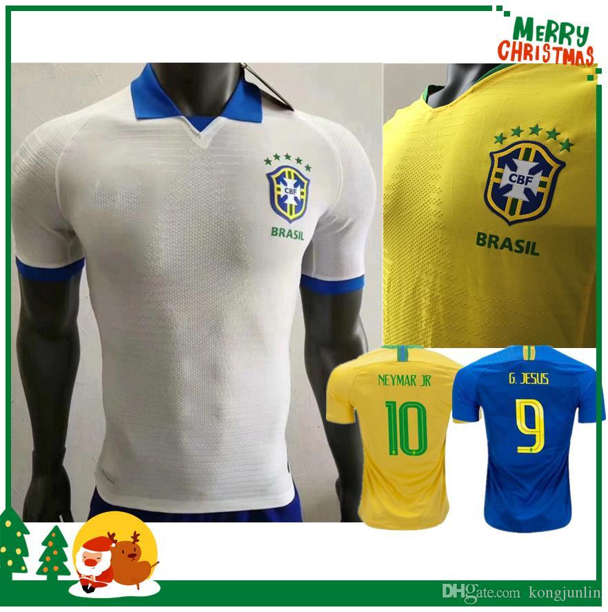 d24a49cee70bf 2018 2019 Brasil Jugador Versión Copa Del Mundo Camiseta De Fútbol DAVID  LUIZ MARCELO PAULINHO COUTINHO G.JESUS Paulinho WILLIAN 18 19 Camiseta De  Fútbol ...