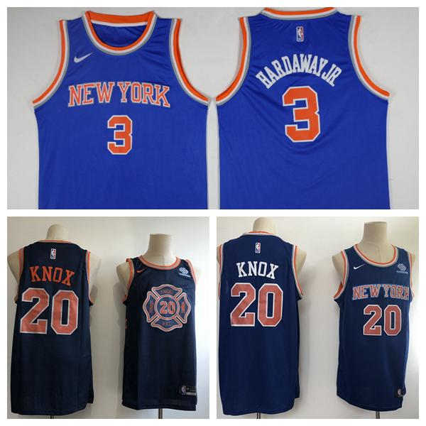 premium selection eab79 b06ae 2019 New Mens New York Knicks 6 Tim Hardaway Jr Basketball Jerseys Stitched  Knick New City Edition Kevin Knox 20 Jerseys Black Blue