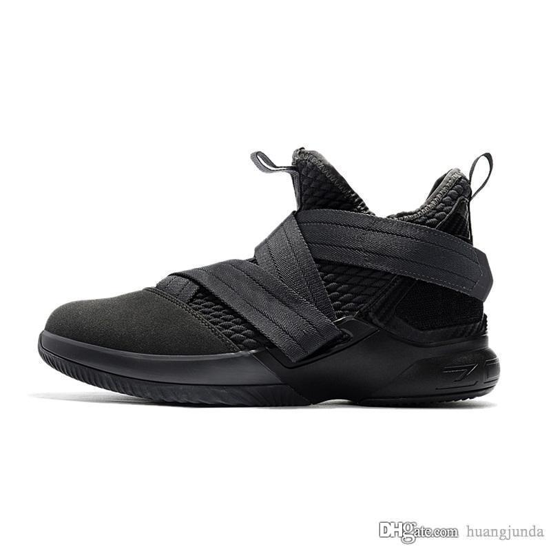 ea942da5a48a 2019 Mens Lebron Soldier 12 Basketball Shoes Zero Dark Thirty 30s Triple  Black Blue University Red Soldiers XII Sneakers Boots With Box For Sale  From ...