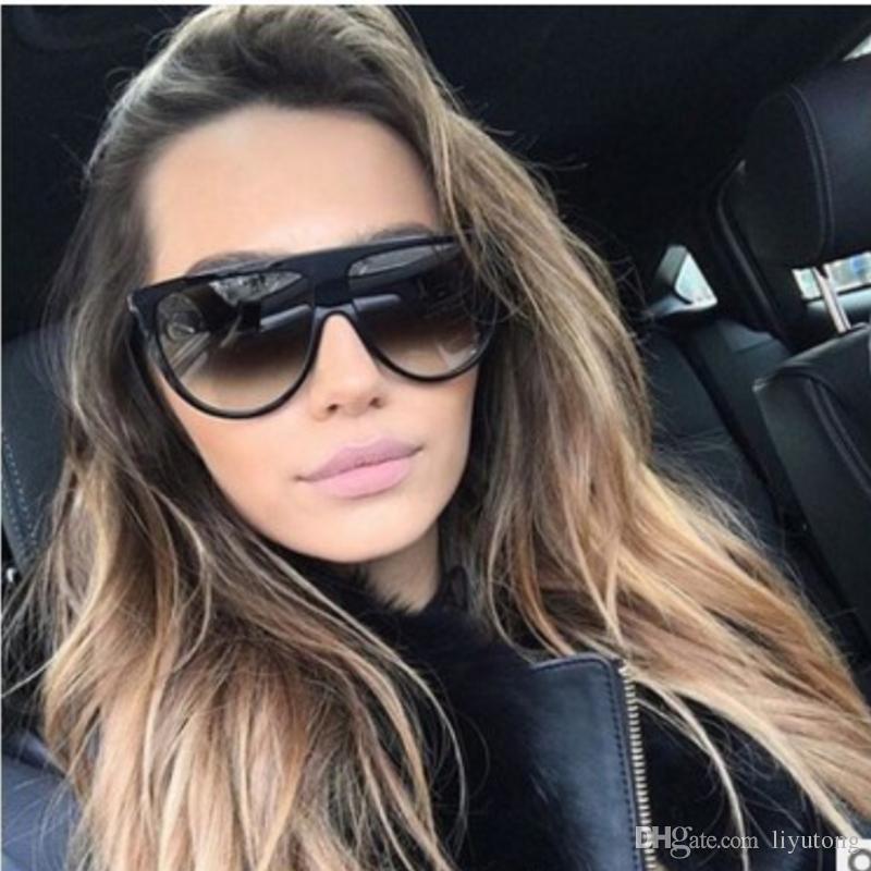 6c267deb18 New Black Clear Oversized Square Sunglasses Women Gradient 2018 Summer Style  Classic Women Sun Glasses Big Square UV400 Cool Sunglasses Custom Sunglasses  ...