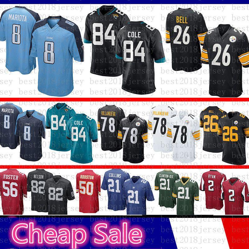 best cheap 5cae5 c04d3 Jacksonville Jersey Jaguars 84 Keelan Cole Pittsburgh Jersey Steelers 26  Bell 78 Alejandro Villanueva Tennessee 8 Marcus Mariota Titans